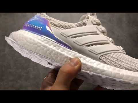 online store f59aa d5ca6 Adidas Ultra Boost 4 0 Iridescent White BY1756 Real Boost  36 48