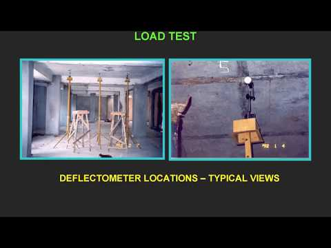 LOAD TEST ON CONCRETE STRUCURES BRIDGES & BUILDINGS - CIVIL ENGINEERING & STRUCTURAL ENGINEERING
