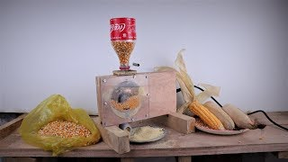How to Make a  Mini Corn Mill/Grinder at Home | DIY .