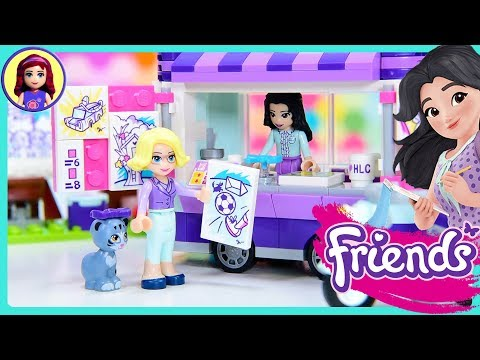 Lego Friends Emma's Art Stand Build Review Silly Play