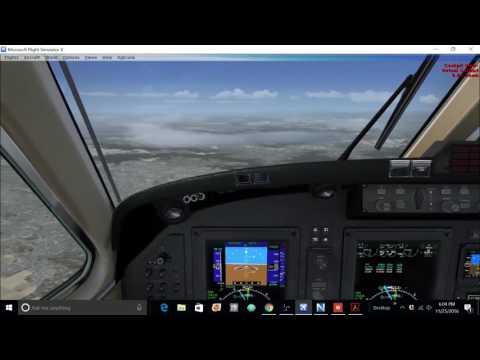 FSX Carenado Beechcraft King Air 350i Tutorial Part 2- Descent, approach, taxi & landing