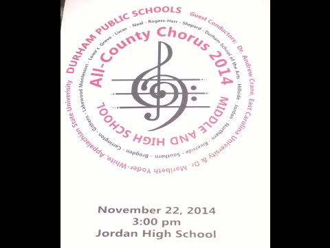 Durham All County Middle School Chorus Stand Together