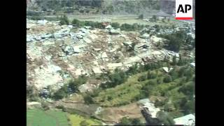 Aerials over the devastated city of Balakot and Kashmir frontier