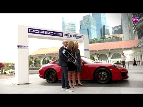 Simona Halep wins Porsche Race to Singapore