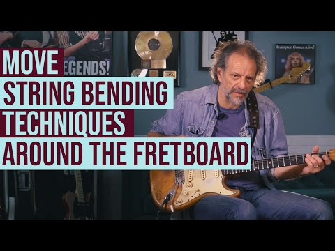 Moving string-bending techniques around the fretboard with Andy Aledort