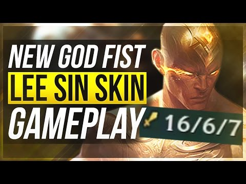 LEE IS A GOD?!   NEW LEGENDARY GOD FIST LEE SIN GAMEPLAY - League of Legends