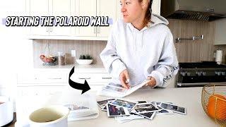 starting the diy polaroid wall!!