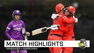 Duffin the hero as Renegades win thriller | Rebel WBBL|05