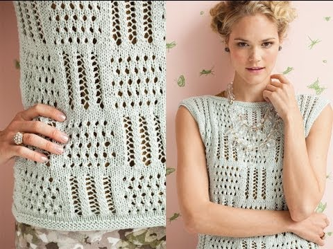 2 Patchwork Lace Top Vogue Knitting Early Fall 2012