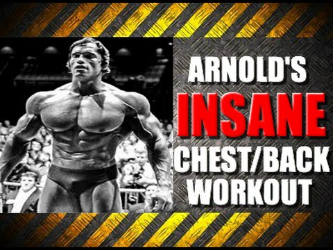 Arnold schwarzeneggers insane chest back routine youtube malvernweather Choice Image