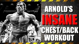 Arnolds blueprint cut day 1 chest and back clip arnold schwarzeneggers insane chest back routine malvernweather Image collections