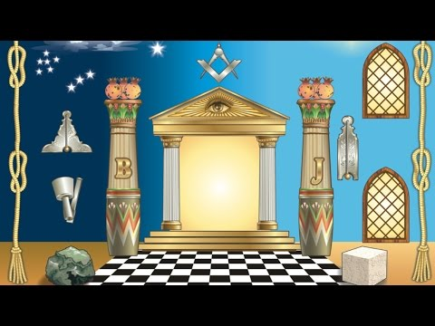 Esoteric Freemasonry: Jachin and Boaz, the Masonic pillars.