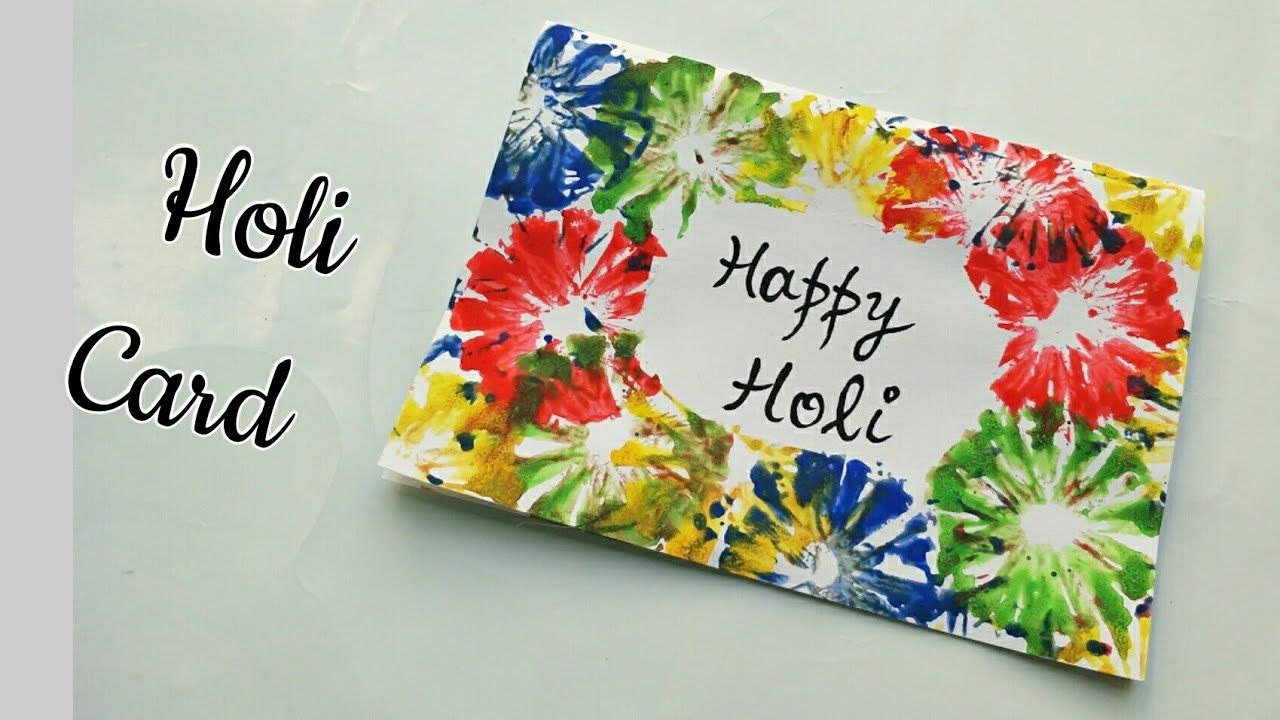 Handmade Holi Card For Kids Happy Holi 2018 Simple Holi Greeting