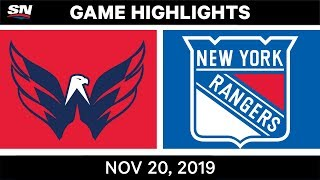NHL Highlights   Capitals vs. Rangers – Nov. 20, 2019