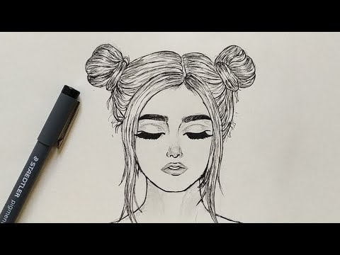 How To Draw A Girl With Closed Eyes Easy Step By Step Youtube
