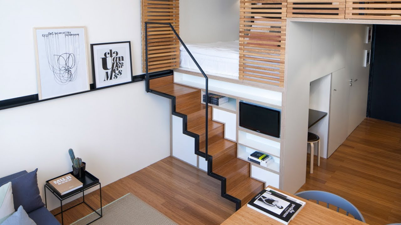 30 modern lofts small spaces design ideas youtube - Small space room ideas ...