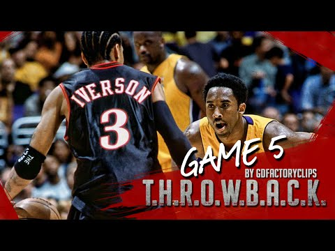 Throwback: Kobe Bryant 26 vs Allen Iverson 37 Duel Highlights (NBA Finals 2001 Game 5)