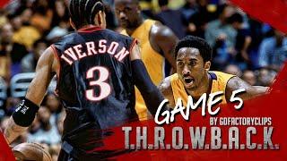 Throwback: Kobe Bryant 26 vs Allen Iverson 37 Duel Highlights (NBA Finals 2001 Game 5)
