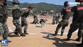 Armed police conduct training in Fujian, China