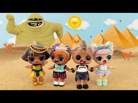 BONECA LOL SURPRESA E A MUMIA ASSUSTADORA DO EGITO! LOL SURPRISE DOLLS EGYPTIAN MUMMY