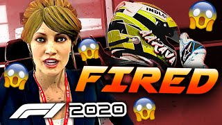 HOW MANY TIMES CAN YOU BE FIRED IN F1 2020 CAREER MODE?! | F1 2020 Game Experiment