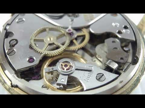 Bulova Wrist Alarm Manualwind Movement Cal.12-B by Junghans Running.