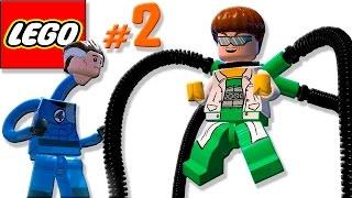 🐈 ЛЕГО мультик ИГРА про Супергероев #2 Человек Паук, Мистер Фантастик и Капитан Америка