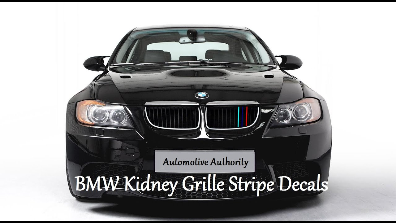 BMW Kidney Stripe Decal Installation Guide YouTube - Bmw grille stripe decals