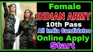 Female Indian Army Recurmant 2019-2020 All Indian candidate online apply kase kare