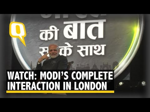 Watch: PM Narendra Modi's Complete Interaction at Westminster, London | The Quint