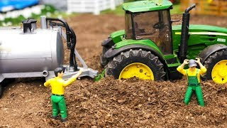 Bruder Rc Tractor Trouble! Toys Action   Video For Kids