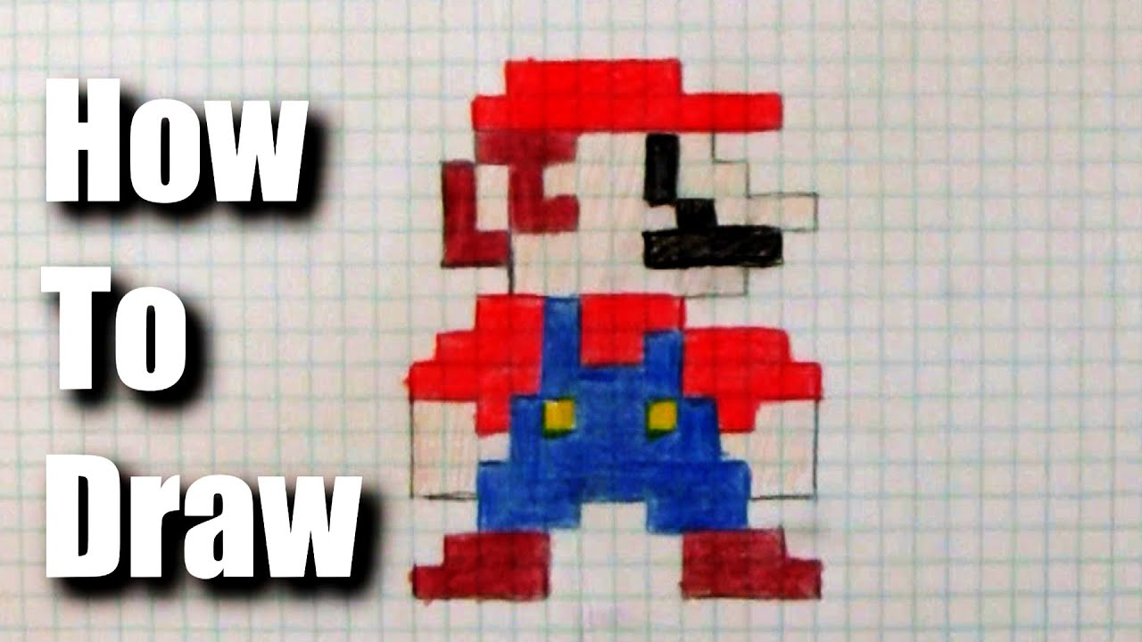 How to draw 8-bit Mario