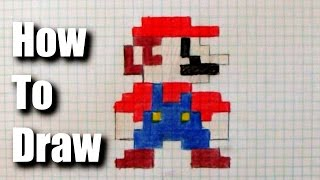 How To Draw 8 Bit Mario