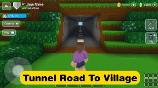 Tunnel Road To The Village - Block Craft 3d: Building Simulator Games for Free screenshot 2