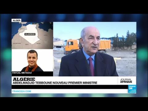 Abdelmadjid Tebboune nouveau Premier ministre en Algérie