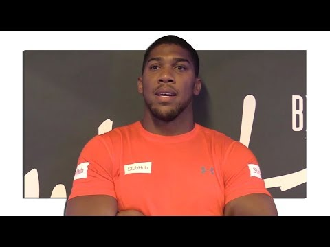 Anthony Joshua Interview - Predicts A Landslide Victory For Mayweather