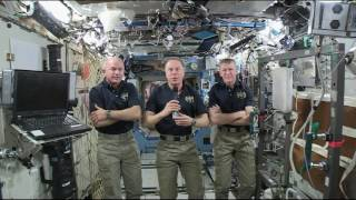 ISS Astronauts Talk from Space with Media