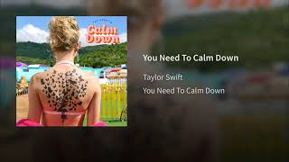Taylor Swift - You Need To Calm Down (Audio) Video