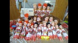 Чувашские национальные платья для кукол-сувениров