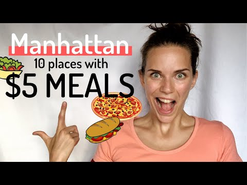 10 PLACES TO EAT FOR $5 OR LESS IN MANHATTAN | New York Cheap Food