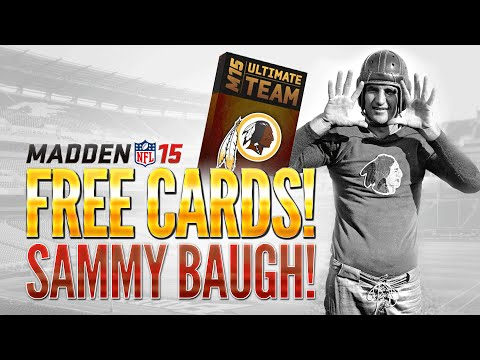 Madden 15 Ultimate Team - FREE PACK W/ GUARANTEED LEGEND!? - Get a FREE SAMMY BAUGH in MUT 15!