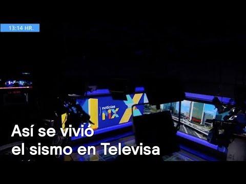 Así se vivió el sismo en Televisa