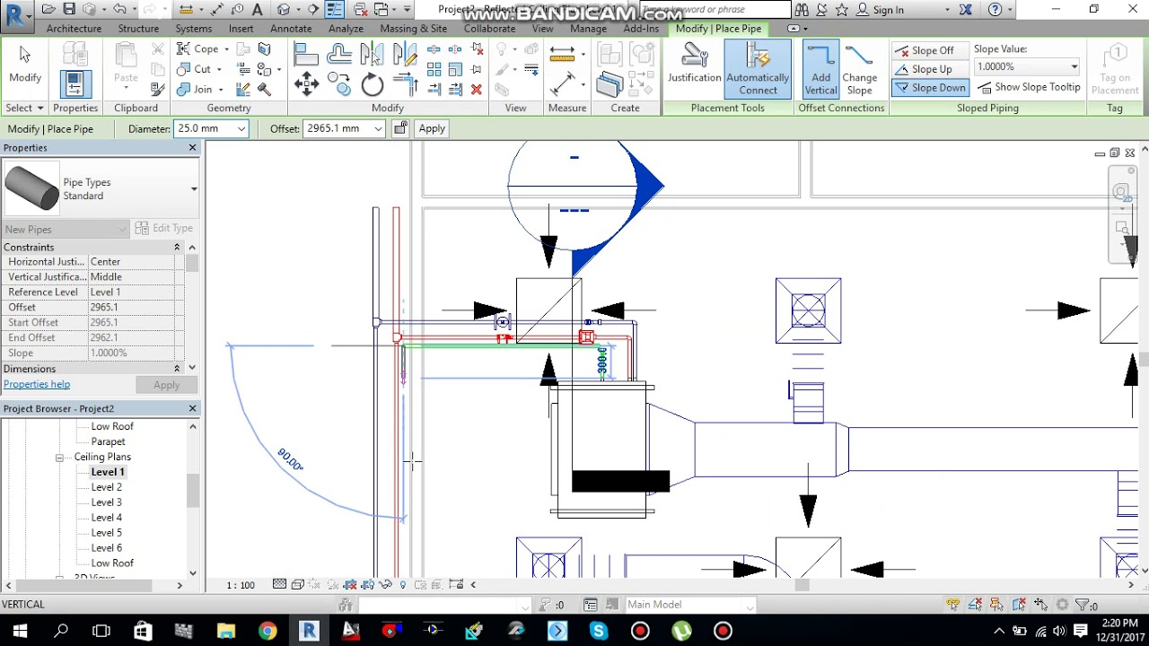 Tutorial#13 How to make condensate drain connection for FCU in revit 2017
