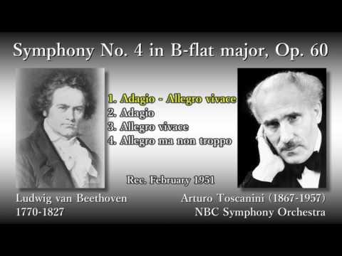 Beethoven: Symphony No. 4, Toscanini & NBCso (1951) ベートーヴェン 交響曲第4番 トスカニーニ