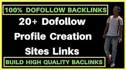 20+ DoFollow Profile Creation Sites List | Create High Quality Profile Creation Backlinks |