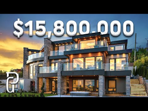 Inside a $15,800,000 Modern House in West Vancouver Canada! | Propertygrams Mansion Tour