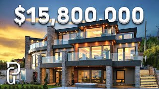 Download Inside a $15,800,000 Modern House in West Vancouver Canada!   Propertygrams Mansion Tour
