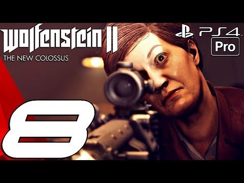 Wolfenstein 2 New Colossus - Gameplay Walkthrough Part 8 - New Orleans, Louisiana (PS4 PRO)