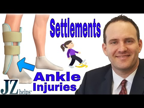 Ankle Injury Settlements for Slip, Trip and Falls (and Other Accidents)