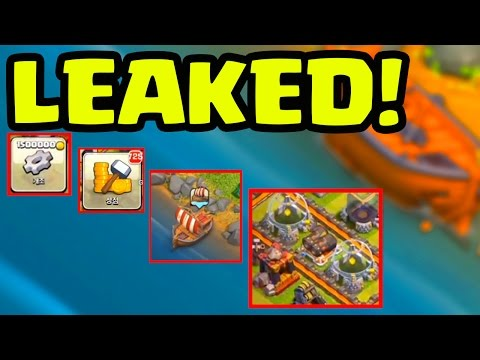 UPDATE GAMEPLAY LEAKED! Clash of Clans Boat Update Footage Gets Out!
